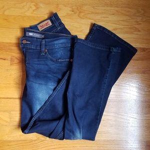 Levi's 524 Boot Cut Dark Wash Jeans